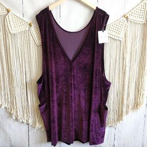 NWT Agnes & Dora Deep Purple Velvet Jumper Dress